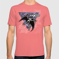 Pterodactyl Fossil Mens Fitted Tee Pomegranate SMALL