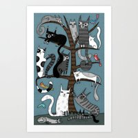 CAT TREE Art Print
