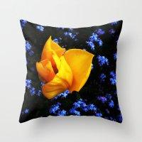 Flower Days Throw Pillow