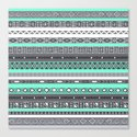 Tiffany Turquoise Aztec Print Canvas Print