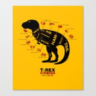 Canvas Print featuring Dino Deli by Victor Calahan