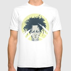 edward scissorhands White SMALL Mens Fitted Tee