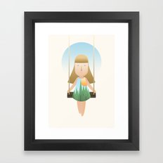 Vacation Game Framed Art Print