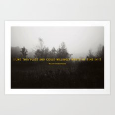 I Like This Place Art Print