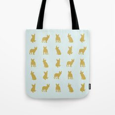 Gold And Turquoise Frenc… Tote Bag