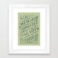 Jane Austen Covers: Emma Framed Art Print