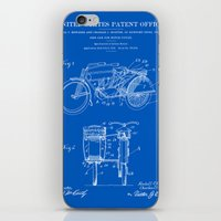 Motorcycle Sidecar Patent 1912 - Blueprint iPhone & iPod Skin