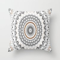 Black, Gold, And White Throw Pillow