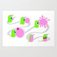 Bubol Bubble Gum Art Print