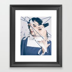 Blue Glass Framed Art Print
