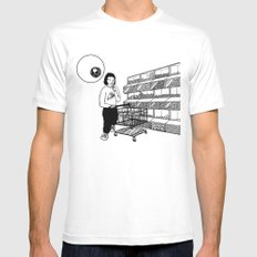 Surveillance Mens Fitted Tee SMALL White