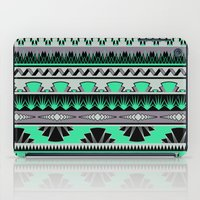 Art Deco Stripes - Green… iPad Case