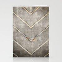 Concrete Chevron Stationery Cards