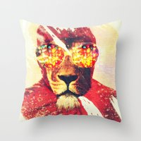 Lion Zion Throw Pillow