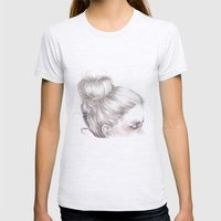 Loveland // Fashion Illustration Womens Fitted Tee Ash Grey SMALL
