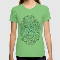 LOVE YOU Womens Fitted Tee Grass SMALL