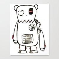 Robo Bear Canvas Print