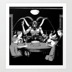 Happy Birthday Baphomet Art Print