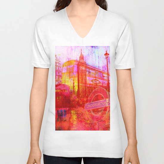 LONDON V-neck T-shirt