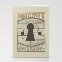Positivity Is Key V.2 Stationery Cards