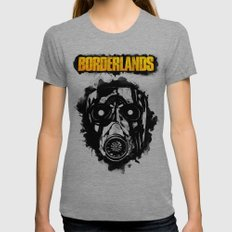Borderlands Womens Fitted Tee Tri-Grey SMALL