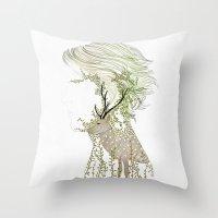 Deer Man Throw Pillow