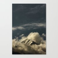 Misty Mountain Top Canvas Print