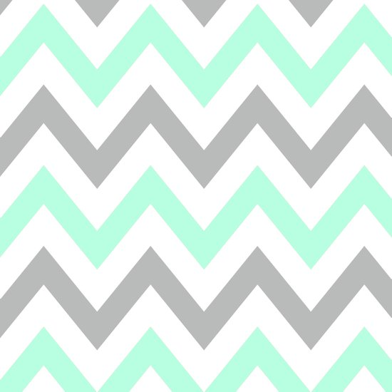 MINT & GRAY CHEVRON Canvas Print