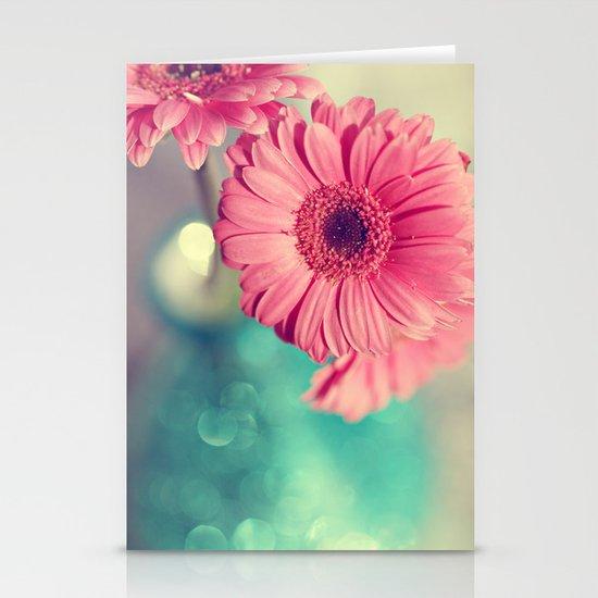 Pink Gerbera Daisy Stationery Card
