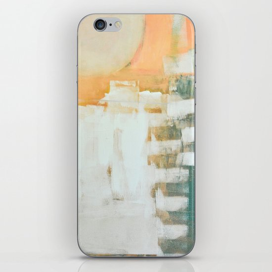 abstract, orange and green iPhone & iPod Skin