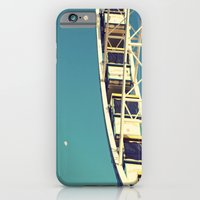 iPhone & iPod Case featuring The sky, the moon and the Ferris Wheel by Libertad Leal Photography