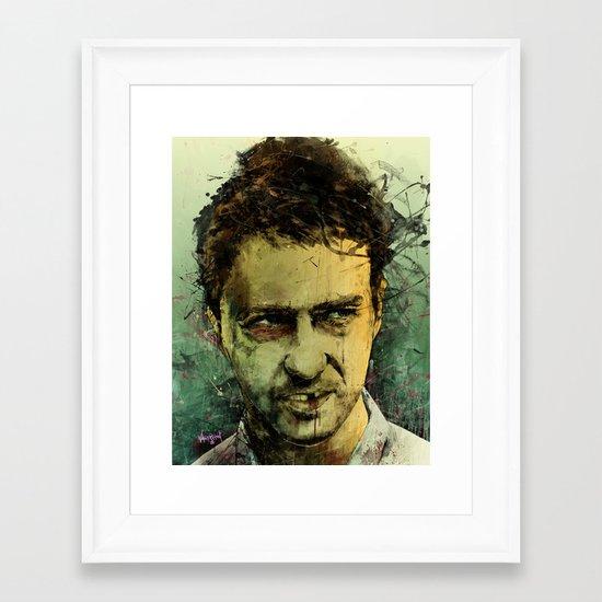 Schizo - Edward Norton Framed Art Print