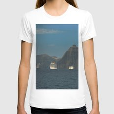 Santorini, Greece 5 Womens Fitted Tee White SMALL