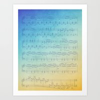 Watercolor Music Art Print