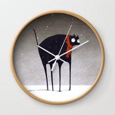 Snowfall Wall Clock