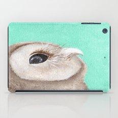 Original Owl Painting Print Aqua Blue Owl Art Owl print Cute Owl art One of a kind Unique iPad Case