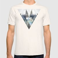 NYC - I Love New York 1 Mens Fitted Tee Natural SMALL