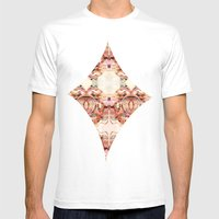 Abstract Brocarts Mens Fitted Tee White SMALL