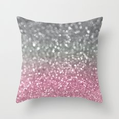 Gray And Light Pink Throw Pillow