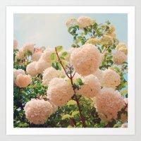 Puffy Flowers! Art Print