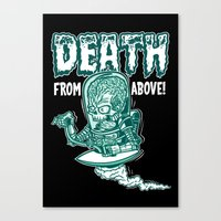 Death From Above (Black) Canvas Print
