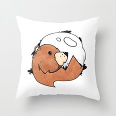 Moonbear Throw Pillow