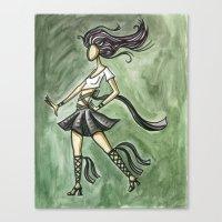 Rock Starlette Canvas Print