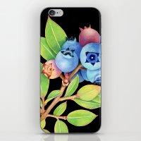 Wild Maine Blueberries iPhone & iPod Skin