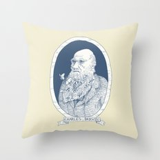 By Darwin's Beard Throw Pillow