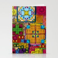 Colourful collage Stationery Cards