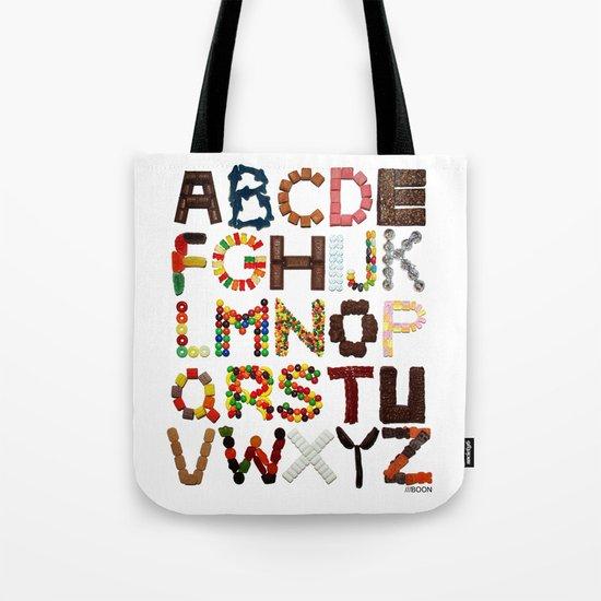 Candy Alphabet Tote Bag