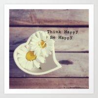Think Happy Art Print