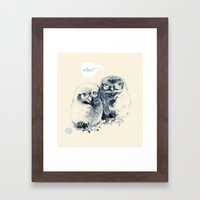 Who's There? Framed Art Print