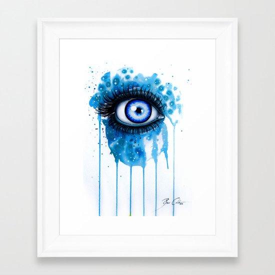 """""""Never ending snow"""" Framed Art Print"""